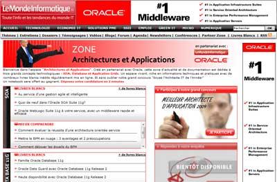 Partner Zone Oracle : Architectures et Applications